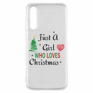 Etui na Huawei P20 Pro Just a girl who love Christmas