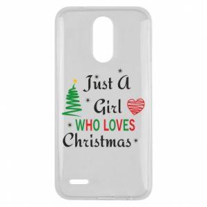 Etui na Lg K10 2017 Just a girl who love Christmas
