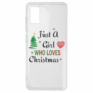 Etui na Samsung A41 Just a girl who love Christmas