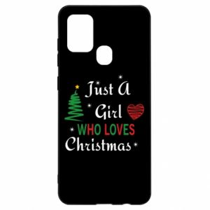 Etui na Samsung A21s Just a girl who love Christmas