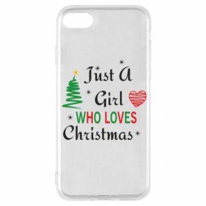Etui na iPhone SE 2020 Just a girl who love Christmas