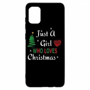 Etui na Samsung A31 Just a girl who love Christmas