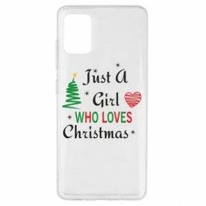 Etui na Samsung A51 Just a girl who love Christmas
