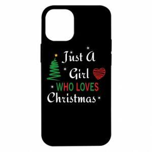 Etui na iPhone 12 Mini Just a girl who love Christmas