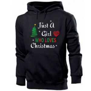 Męska bluza z kapturem Just a girl who love Christmas