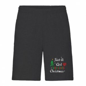 Men's shorts Just a girl who love Christmas