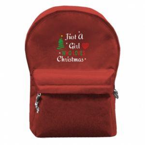 Plecak z przednią kieszenią Just a girl who love Christmas