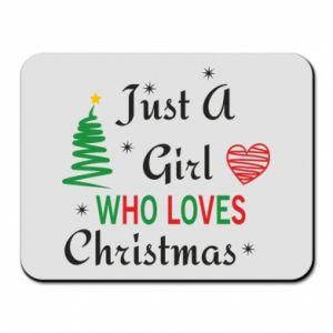 Podkładka pod mysz Just a girl who love Christmas