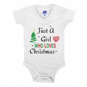 Body dziecięce Just a girl who love Christmas