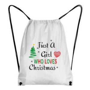 Plecak-worek Just a girl who love Christmas