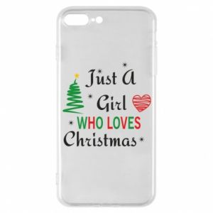 Etui do iPhone 7 Plus Just a girl who love Christmas