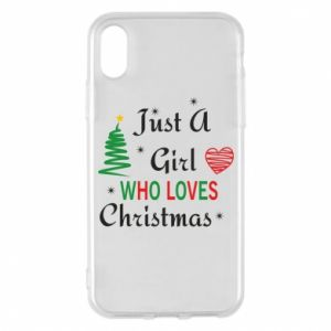 Etui na iPhone X/Xs Just a girl who love Christmas