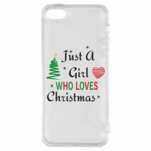 Etui na iPhone 5/5S/SE Just a girl who love Christmas