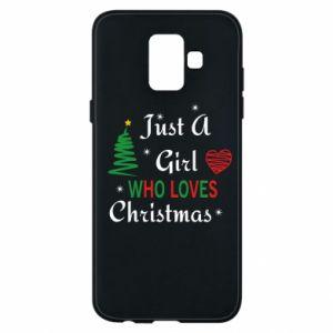 Etui na Samsung A6 2018 Just a girl who love Christmas