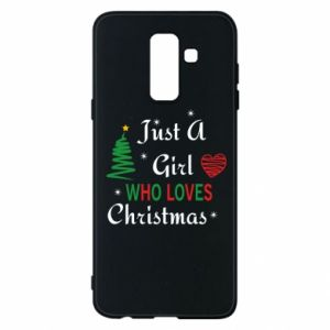 Etui na Samsung A6+ 2018 Just a girl who love Christmas