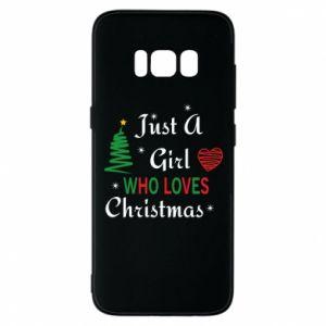 Etui na Samsung S8 Just a girl who love Christmas
