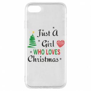 Etui na iPhone 8 Just a girl who love Christmas