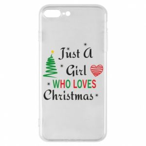 Etui na iPhone 8 Plus Just a girl who love Christmas