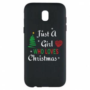 Etui na Samsung J5 2017 Just a girl who love Christmas