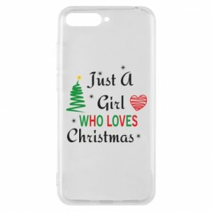 Etui na Huawei Y6 2018 Just a girl who love Christmas