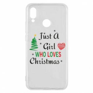 Etui na Huawei P20 Lite Just a girl who love Christmas