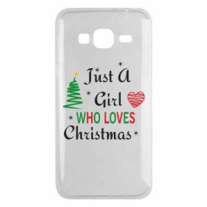 Etui na Samsung J3 2016 Just a girl who love Christmas