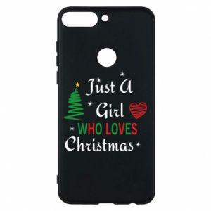 Etui na Huawei Y7 Prime 2018 Just a girl who love Christmas