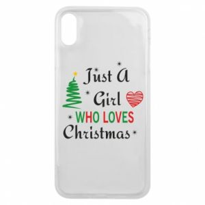 Etui na iPhone Xs Max Just a girl who love Christmas