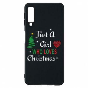 Etui na Samsung A7 2018 Just a girl who love Christmas