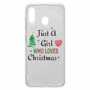 Etui na Samsung A30 Just a girl who love Christmas