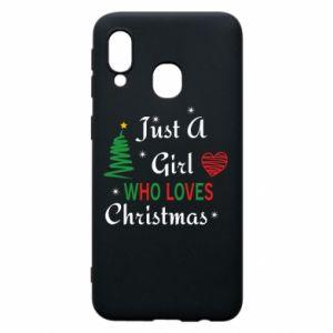 Etui na Samsung A40 Just a girl who love Christmas