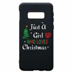 Etui na Samsung S10e Just a girl who love Christmas