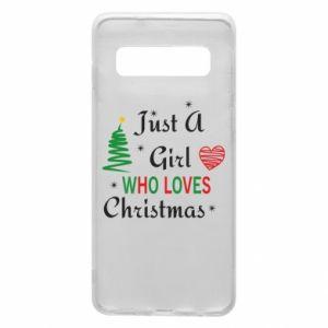 Etui na Samsung S10 Just a girl who love Christmas