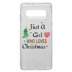 Etui na Samsung S10+ Just a girl who love Christmas