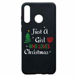 Etui na Huawei P30 Lite Just a girl who love Christmas