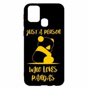 Etui na Samsung M31 Just a person who loves pandas