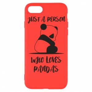 Etui na iPhone SE 2020 Just a person who loves pandas