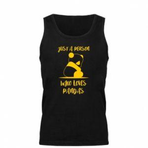 Męska koszulka Just a person who loves pandas
