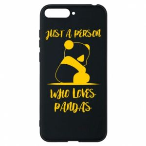 Etui na Huawei Y6 2018 Just a person who loves pandas