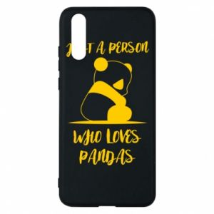 Etui na Huawei P20 Just a person who loves pandas