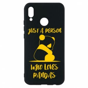 Etui na Huawei P20 Lite Just a person who loves pandas