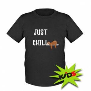 Kids T-shirt Just chill