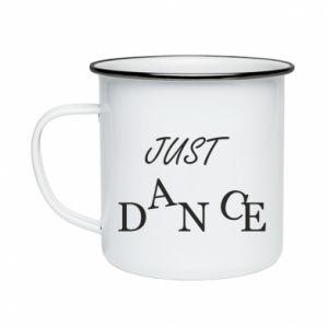 Kubek emaliowany Just dance
