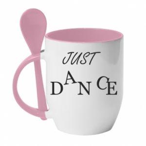 Kubek z ceramiczną łyżeczką Just dance