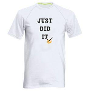 Męska koszulka sportowa Just did it