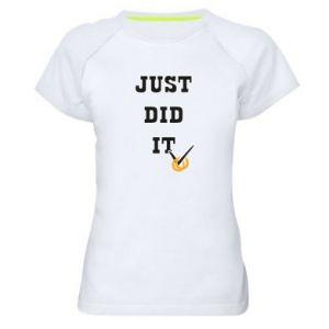 Damska koszulka sportowa Just did it