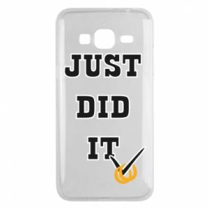 Phone case for Samsung J3 2016 Just did it - PrintSalon