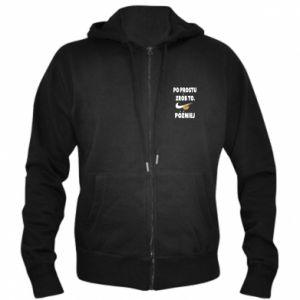 Men's zip up hoodie Just do it later