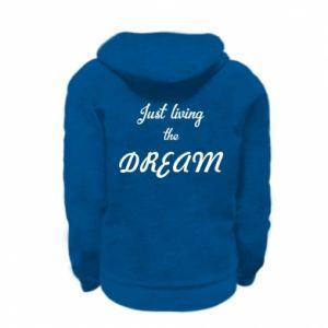 Bluza na zamek dziecięca Just living the DREAM