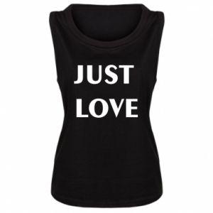 Koszulka bez rękawów damska Just love